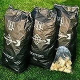 15kg BBQKontor Buchenholz Holzkohle in Premium Qualität + 20 Stück Anzünder