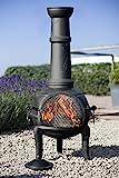 Buschbeck Feuerstelle, Gartenkamin Leaf, schwarz, 48 x 48 x 136 cm, 90109.000 - 2